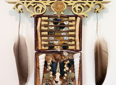 Linda Popp Shares her Narrative Found Object Assemblage Sculpture