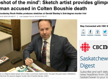'A snapshot of the mind': Sketch artist provides glimpse into trial of man accused in Colten Boushie