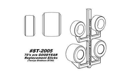 Tamiya Brabham BT50 - '70s era Wingfoot Replacement Slicks