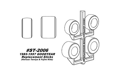 Tamiya & Fujimi - 1985-1997 Wingfoot Replacement Slicks