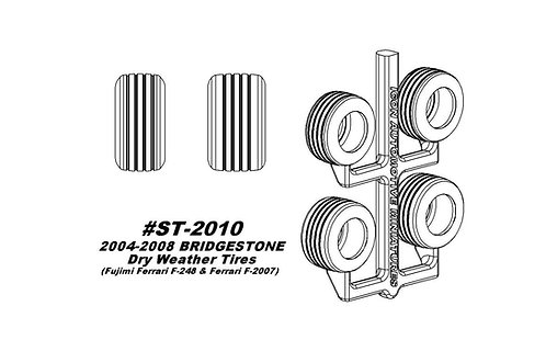 Fujimi F-248, F-2007 - 2004-2008 Bridgestone Dry Weather Tires