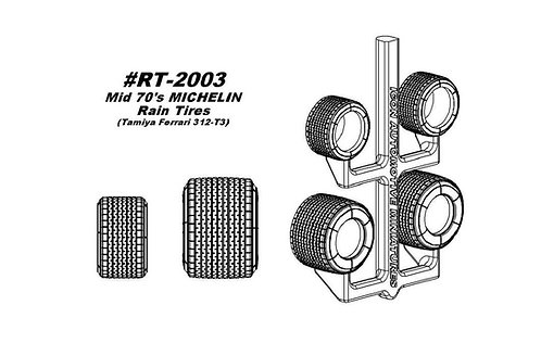 RT-2003 Tamiya Ferrari 312 T3 - Mid '70s Michelin Rain Conversion Tires