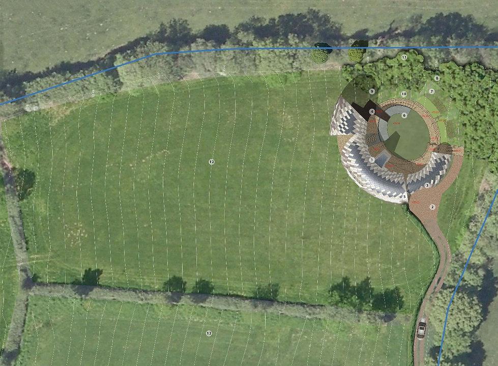 Grande Design Spiral Snake House, Devon garden designed by Alistair Baldwin