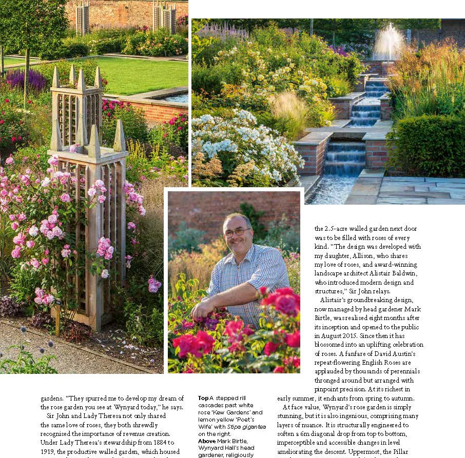 Wynyard Hall Rose Garden, designed by Alistair Baldwin, The English Garden Magazine, Page 4