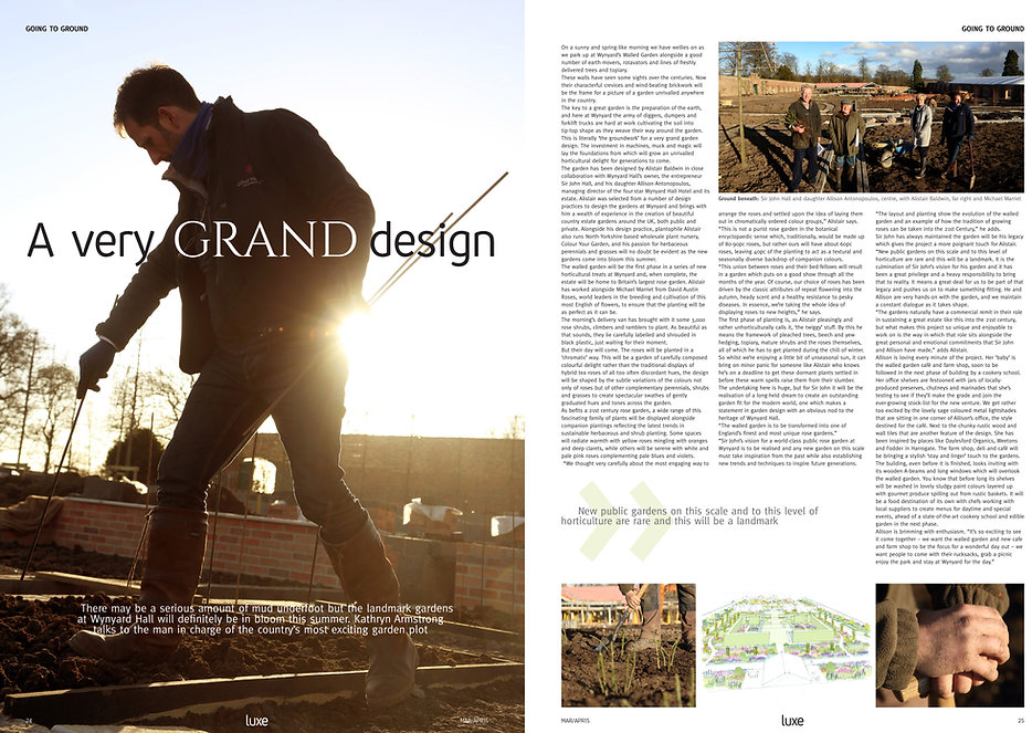 Luxe Magazine, Wynyard Hall Rose Garden, designed by Alistair Baldwin