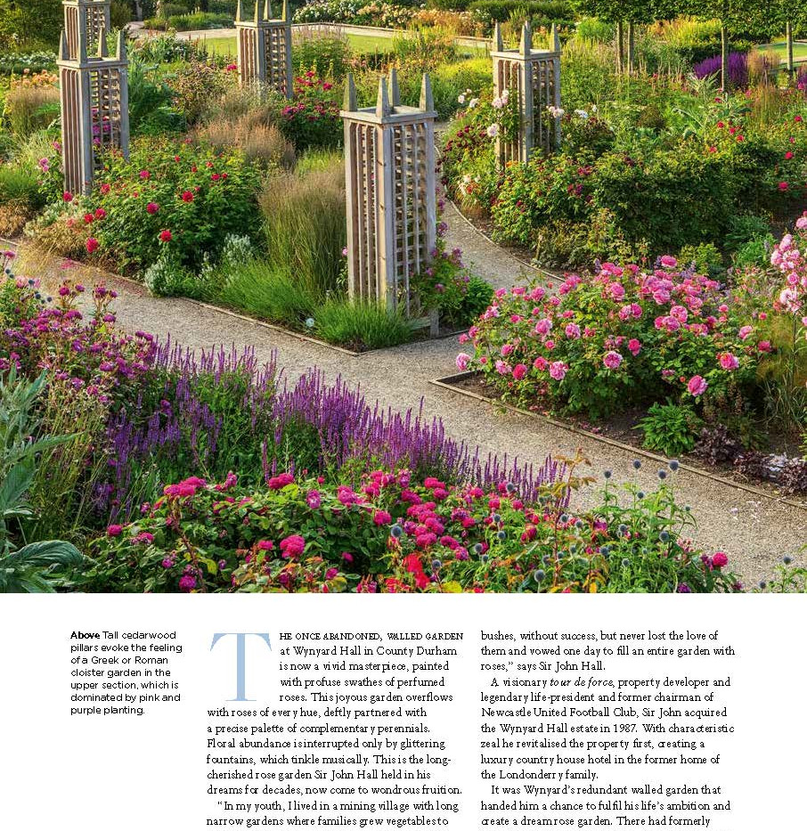 Wynyard Hall Rose Garden, designed by Alistair Baldwin, The English Garden Magazine, Page 3