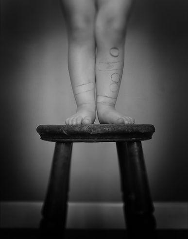 feet, toes, plasters, legs, child