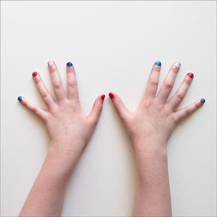 childrens hands, nail varnish,
