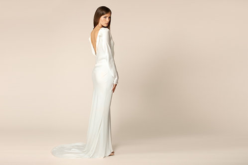 Open Back Silk Gown
