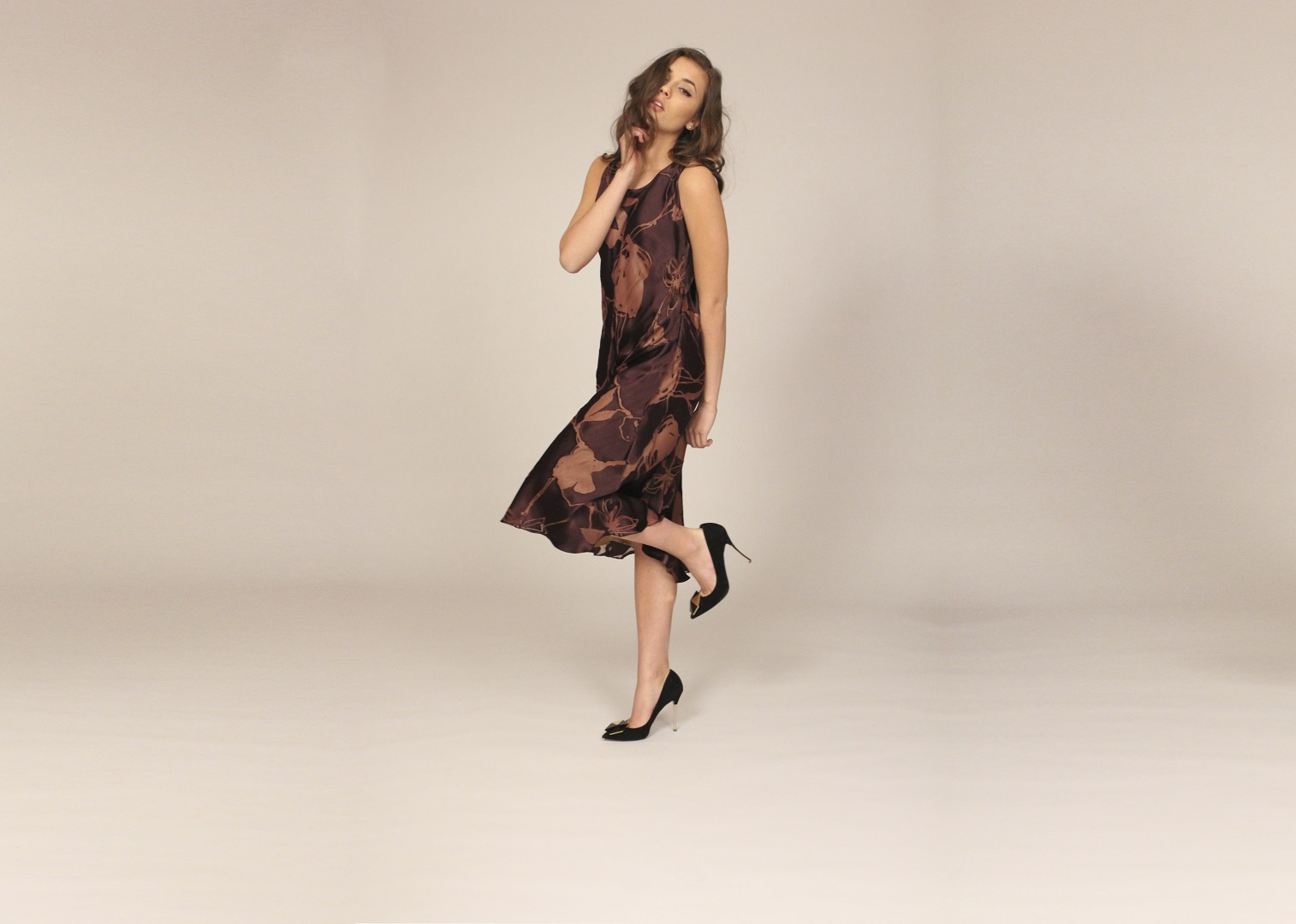 Burgundy burntout Organza Dress (2016_07_02 22_56_22 UTC)