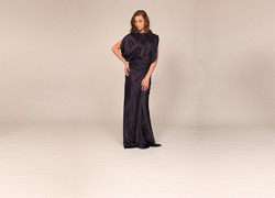 Paint brushed silk bias gown