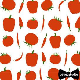 beve studio tomatoes and peppers