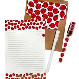 beve studio Ladybug Letter Writing Set & Washi