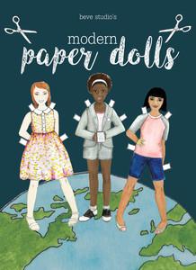 beve studio Modern Wednesday Paper Dolls Cover Mock Up