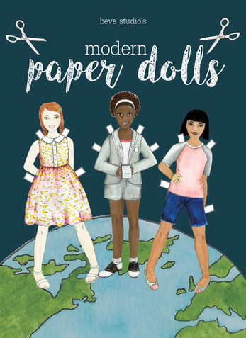 Modern Wednesday Paper Dolls Cover Mock Up
