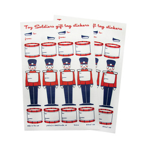 beve studio Toy Soldier Gift Tags