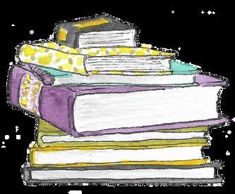 beve studio Book Stack Spot Illustration