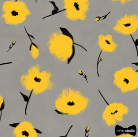 beve studio yellow brush floral