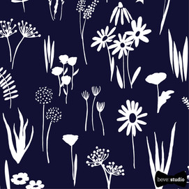 beve studio navy blue flora