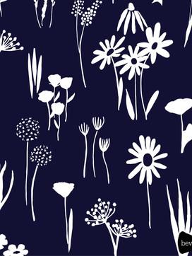 beve studio navy blue floral