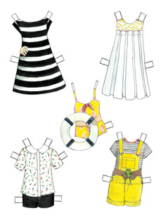 Modern Wednesday Paper Dolls Mock Up Page