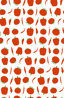 Tomatoes and Peppers Pattern