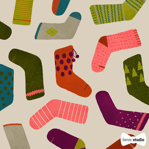 beve studio christmas socks