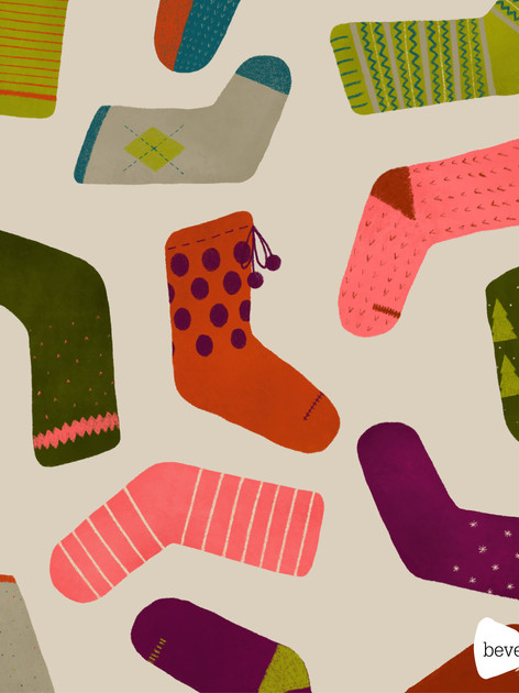 beve studio christmas socks