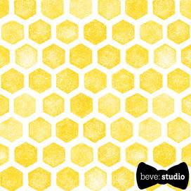 beve studio yellow honeycomb hex
