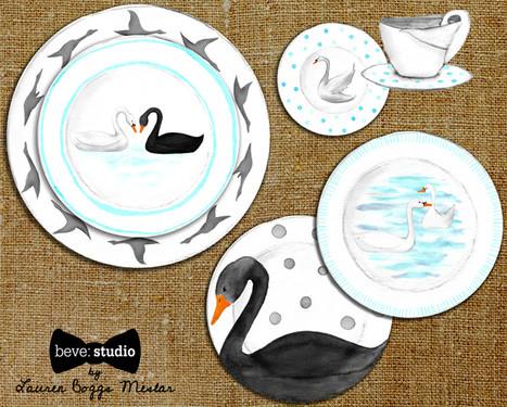 Swan Place Setting