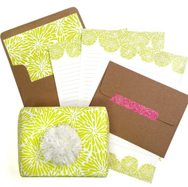 beve studio Acid Green Mum Letter Writing Set & more