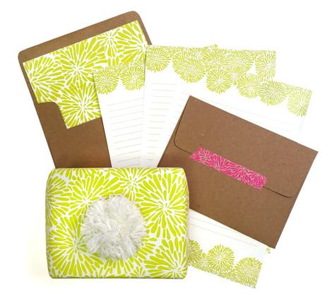 Acid Green Mum Letter Writing Set & Gift Wrap