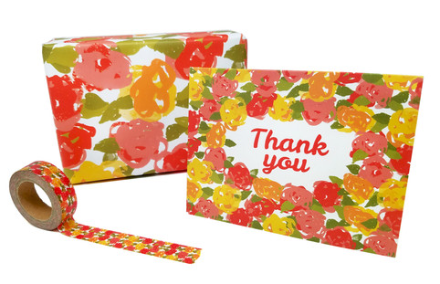Vintage Floral Washi Tape, Stationery, and Gift Wrap