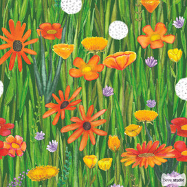 beve studio watercolor wildflowers