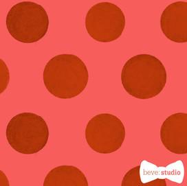 beve studio red textured polka dots