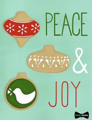 beve studio peace & joy Ornament Cookie Card