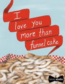 beve studio Funnel Cake Card