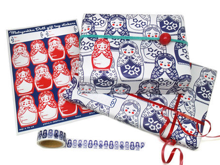 Matryoshka Doll Wrap, Labels, and Washi Tape