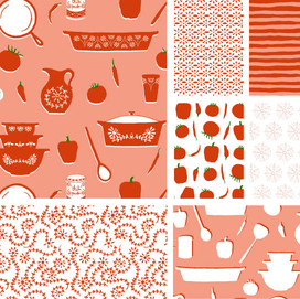 beve studio Pyrex and Pepper Bolt Fabric Collection