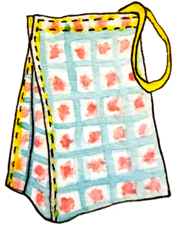 beve studio patterned lunch bag