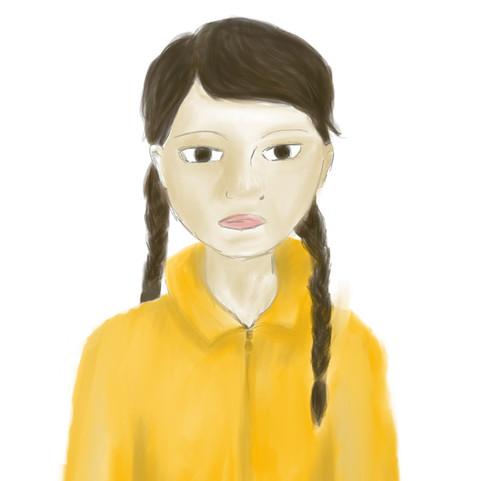 Women's March Young Girl Illustration