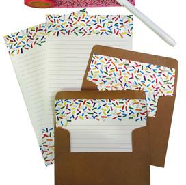 beve studio Sprinkle Letter Writing Set & Washi