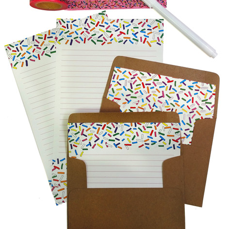 Sprinkle Letter Writing Set & Washi beve