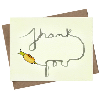 beve studio Snail Thank You Note