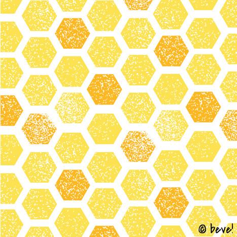 Yellow Hex Pattern