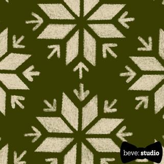 beve studio fair isle snowflake