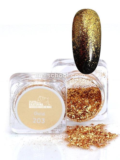 Pigment Flocken Gold #203