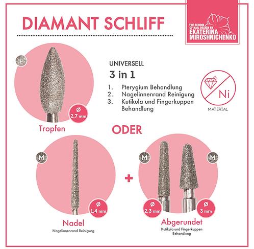 Fräserbits Diamant Schliff