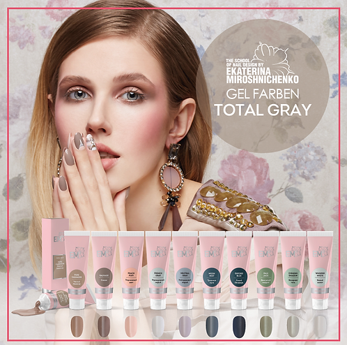 Gel Farben Total Gray 5ml