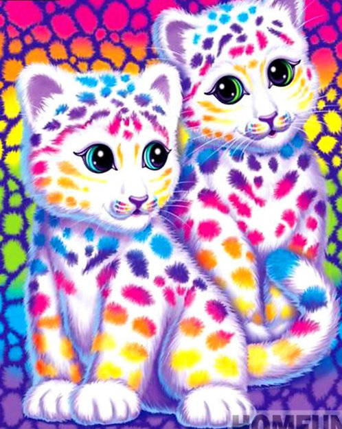 "Diamond Painting ""Lisa Frank -3 "" 20 x 30 cm"